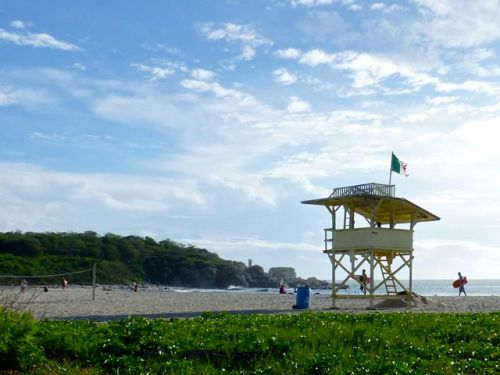 Lifeguard tower, Puerto Escondido, Oaxaca