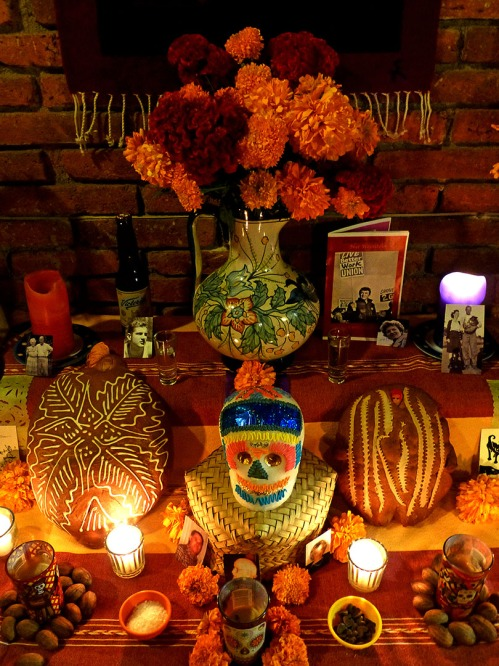 Close up of my muertos altar