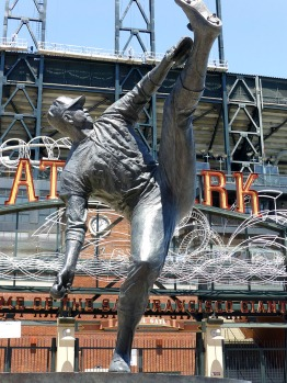 Statue of Giants' pitcher Juan Marichal outside AT&T Park