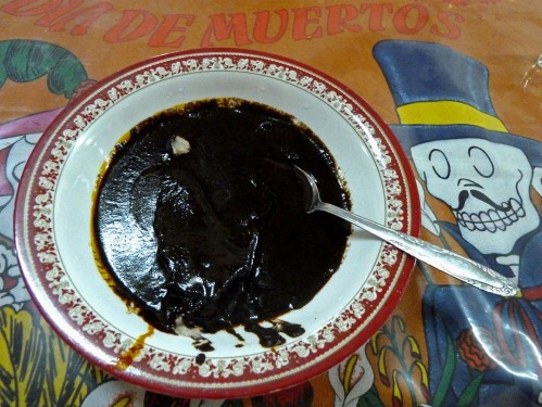 Bowl of black mole