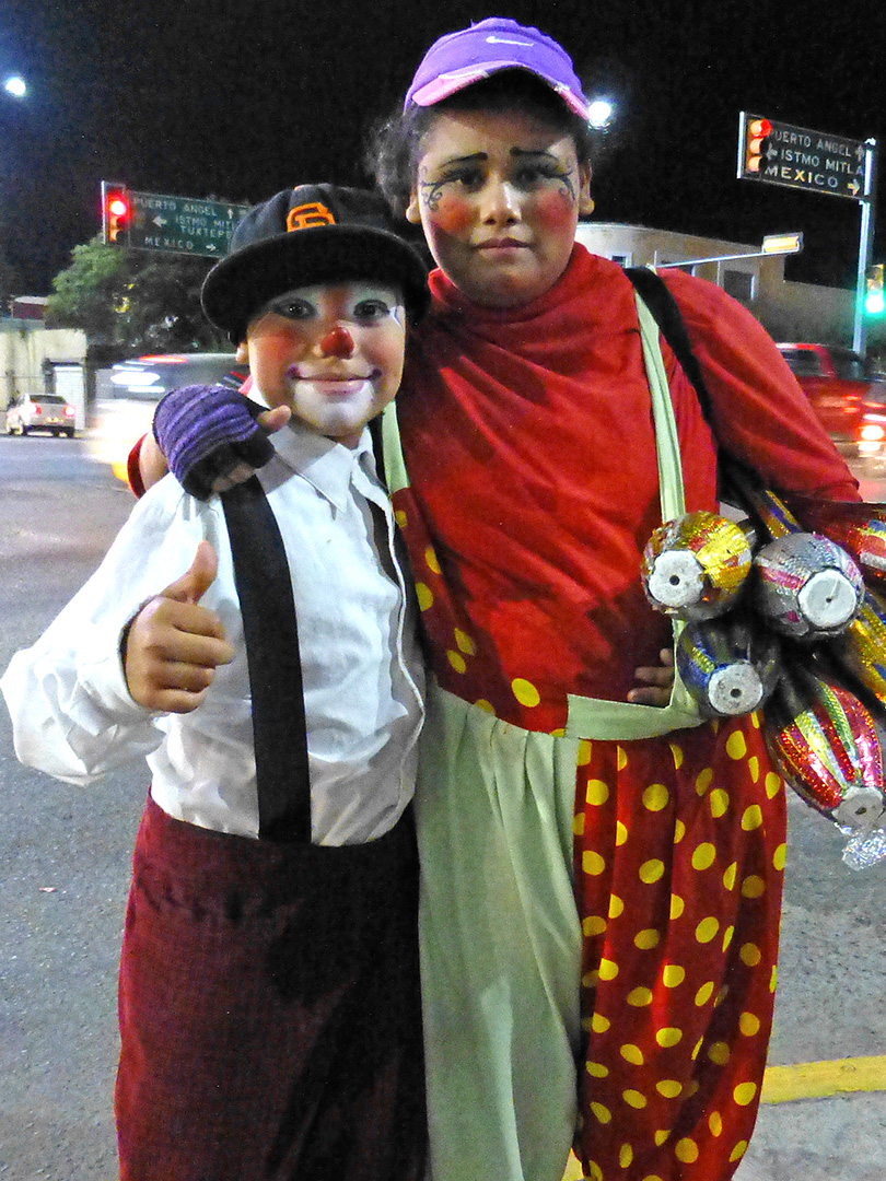 Mother & son clowns