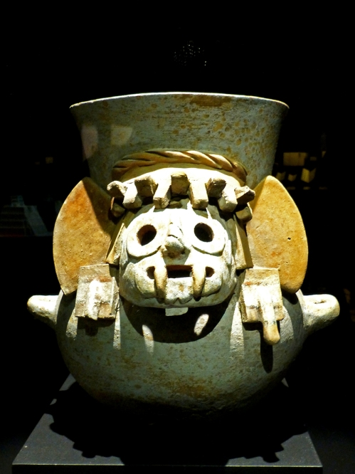 Pot with image of Tláloc -- Museo Nacional de Antropología, Mexico City