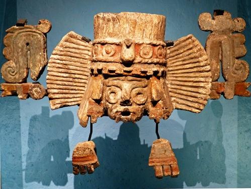 Fragments of a Tláloc brazier - Museo Nacional de Antropología, Mexico City