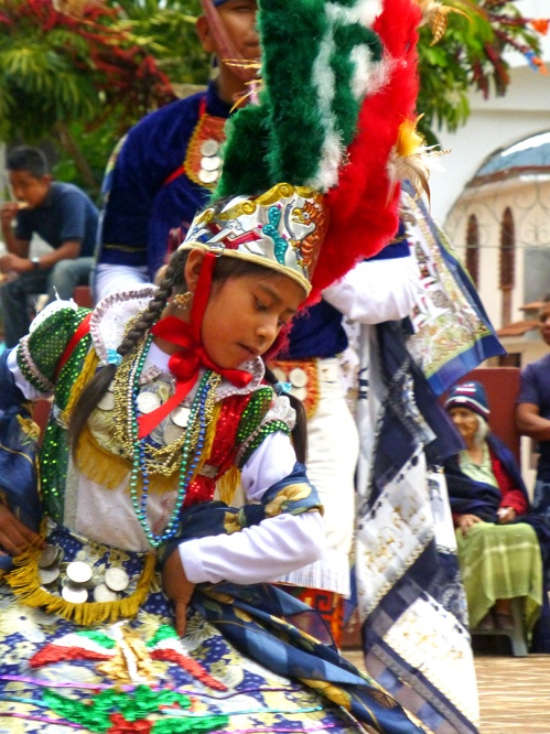 Malinche (Juana Lizbeth Contreras Vicente) dancing the dance.
