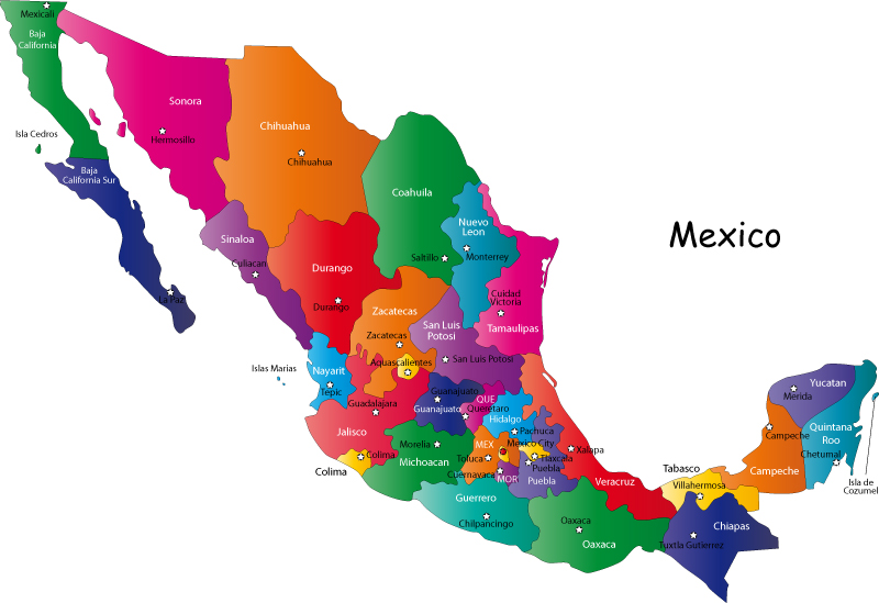 0_ Mexico map