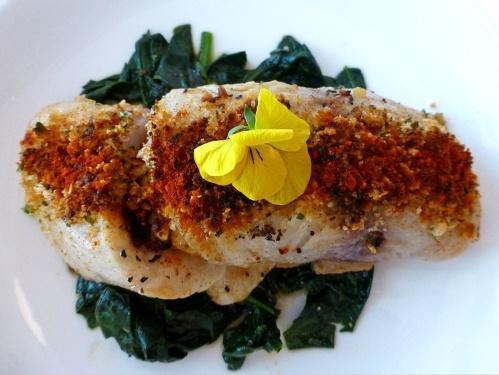 Captura del día rellena de mariscos (Fish of the day stuffed with seafood)