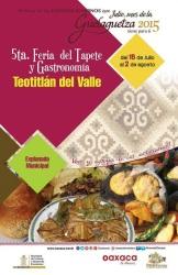 5ta feria del tapete y gastronomica teotilan guelaguetza 2015