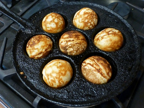 Æbleskiver on New Year's Day 2016; a family tradition