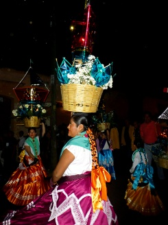 China Oaxaqueñas dancing through streets - Dec. 16, 2016
