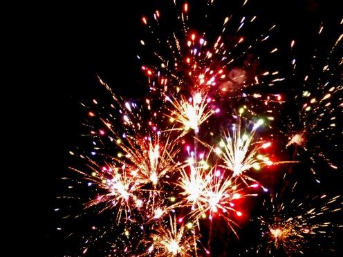 Fireworks from the Basílica de la Soledad courtyard - Dec. 17, 2016