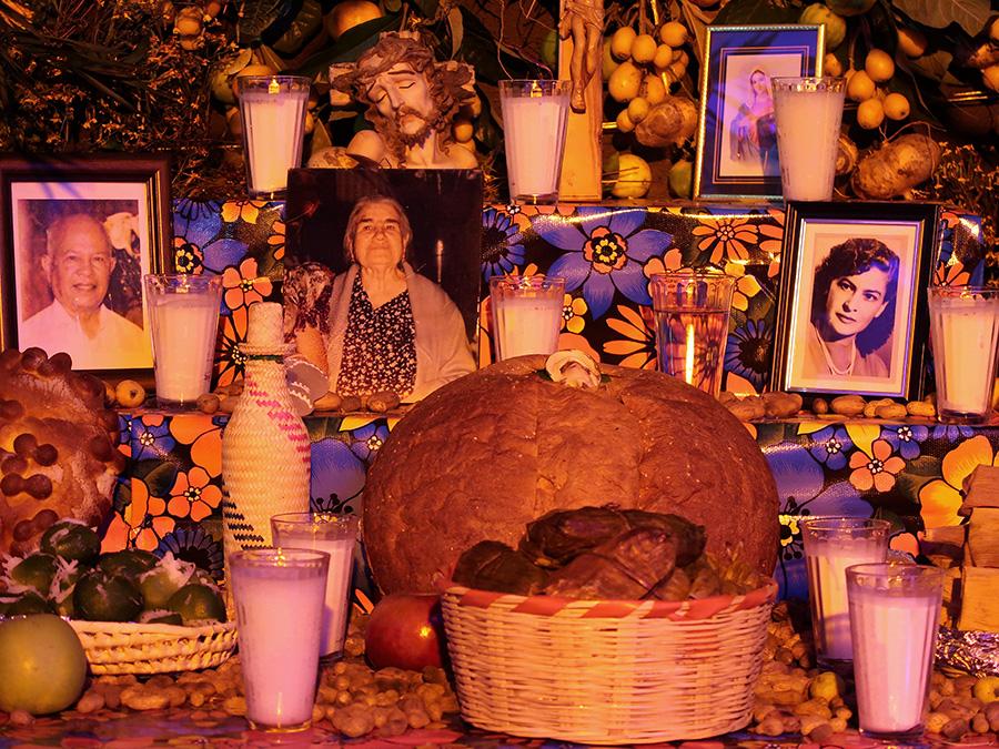 Ofrenda Display In The Biblioteca Publica Central De Oaxaca Margarita Maza Juarez Oct 31 2017