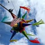 Piñata against sky in Oaxaca